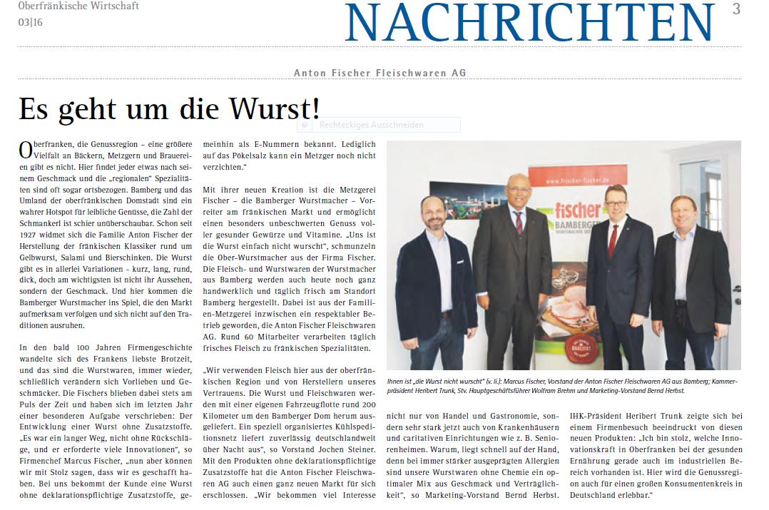 Presse 03-16 Oberfränkische Wirtschaft